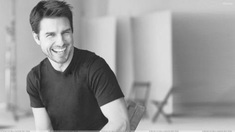 Tom Cruise Laughing Black N White Sitting Photoshoot.jpg